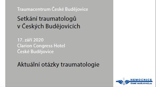 Setkání traumatologů v Českých Budějovicích